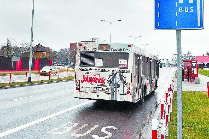 Na razie w Białymstoku buspasami mogą jeździć wyłącznie autobusy komunikacji miejskiej