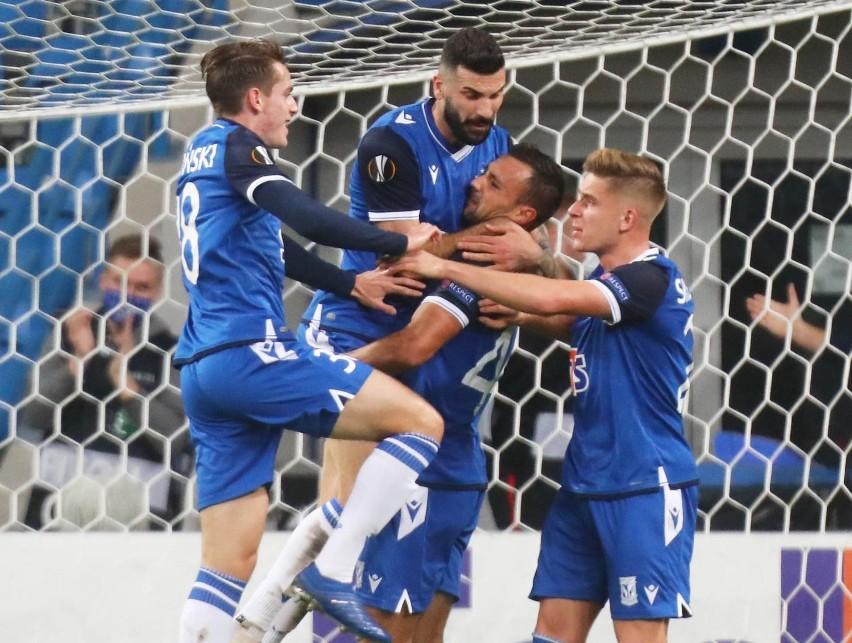 Mikael Ishak dwa gole strzelił Benfice Lizbona w Poznaniu