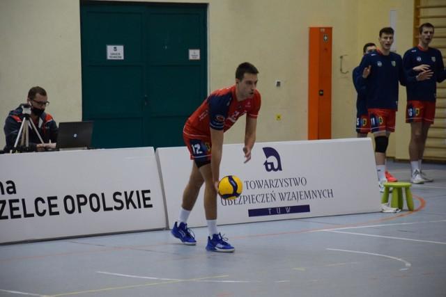 Krzysztof Zapłacki otrzymał nagrodę dla najlepszego gracza meczu ZAKSA - BAS.