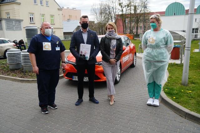 """Samochody ułatwią """"Super brygadzie BCO"""" przemieszczanie się do pacjentów do planowanych hospitalizacji na oddziałach szpitalnych BCO i pobieranie wymazów na obecność COVID-19."""