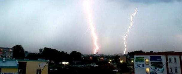 Tak wyglądała jedna z sierpniowych burz nad Podlasiem