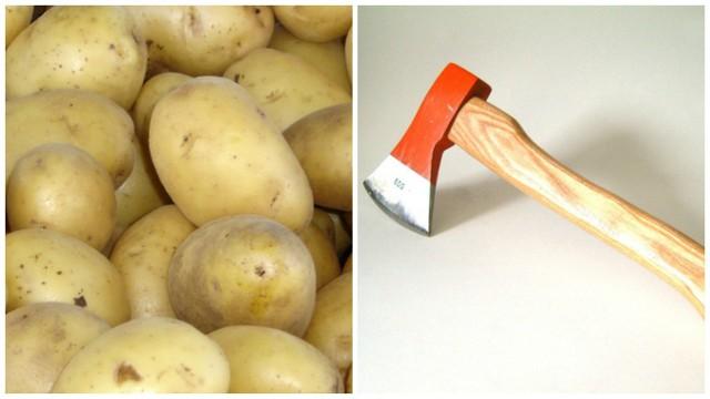 Mężczyzna włamał się  do piwnicy i ukradł ziemniaki i siekierę