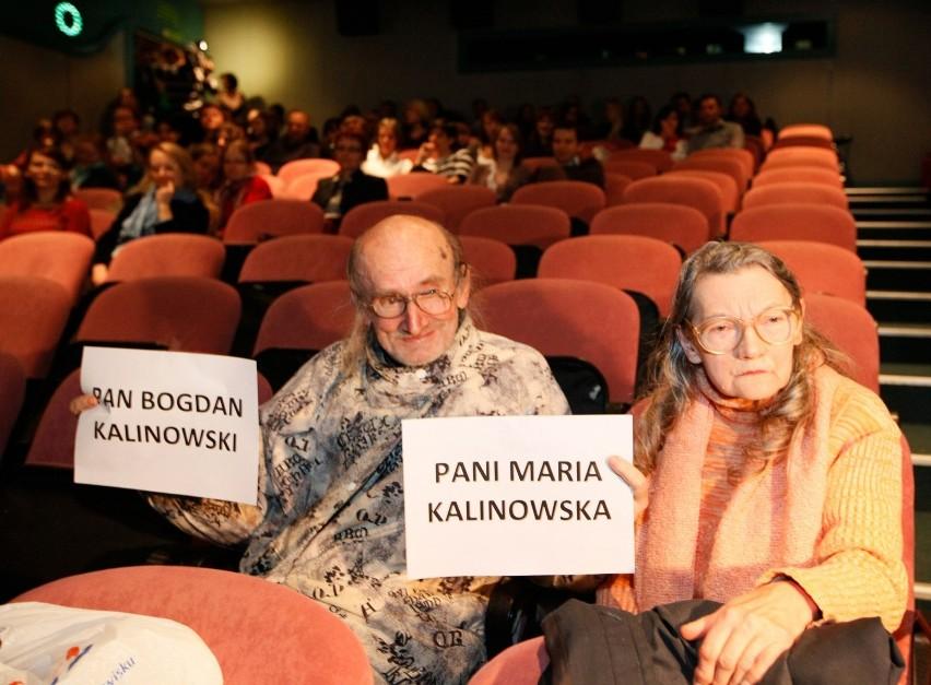 Państwo Kalinowscy podczas jednego z seansów w kinie Muza.