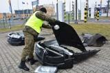 Biaorusini przemycali kradzione części audi A6 (zdjęcia)