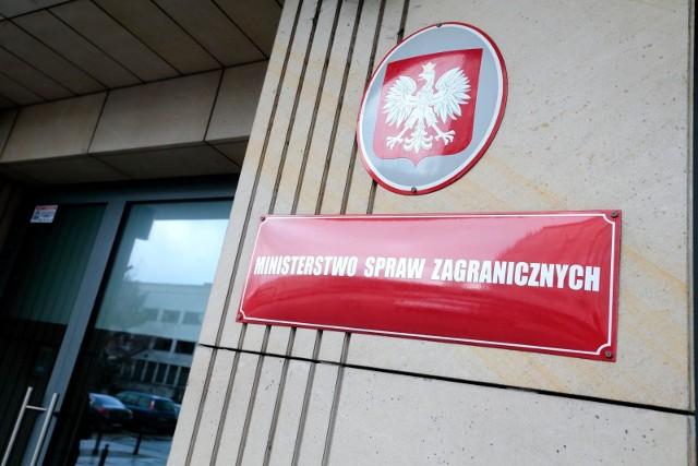 MSZ: trzech rosyjskich dyplomatów zostało uznanych za personae non gratae. Będą musieli opuścić Polskę