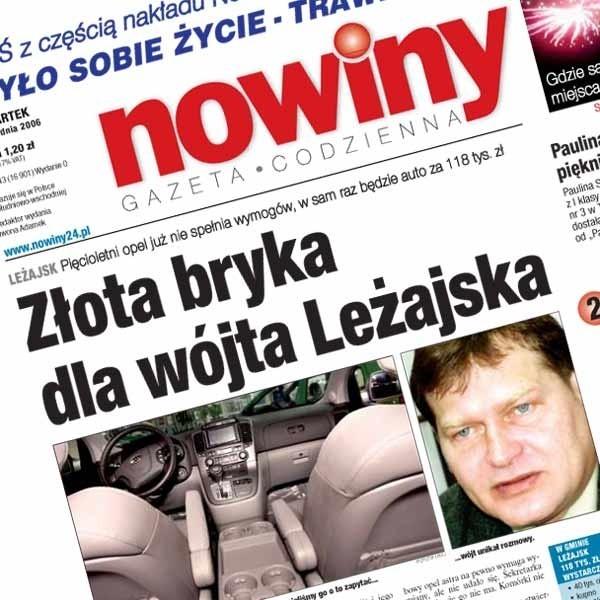 O sprawie służbowego samochodu wójta Leżajska pisaliśmy jako pierwsi.