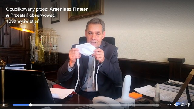 Burmistrz Chojnic Arseniusz Finster