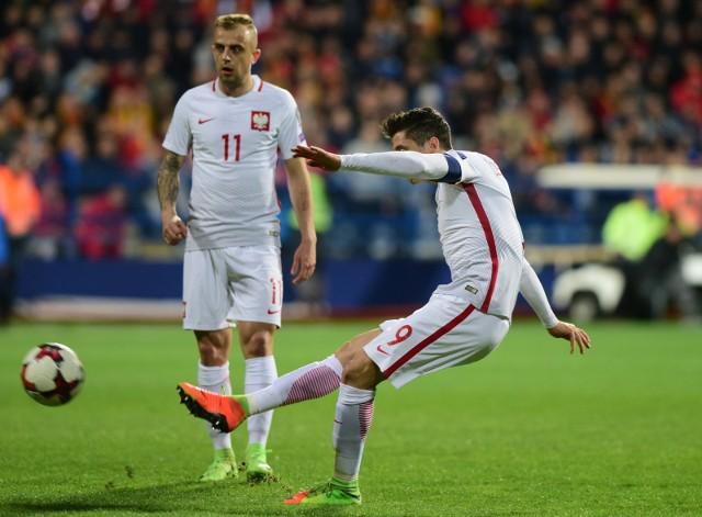 Robert Lewandowski zdobył bramkę z Czarnogórą