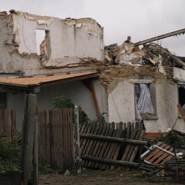Wsie w powiecie strzeleckim po przejściu nawalnicy. Zdjecia przyslane na nto24@nto.pl przez Mieczyslawa Ferdzyna.