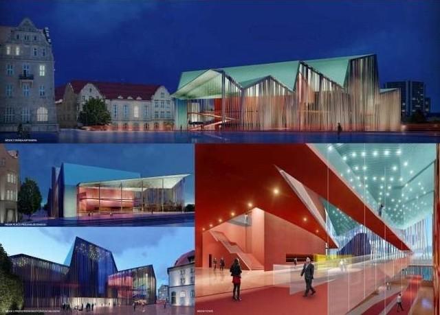 Zwycięska koncepcja architektoniczna nowej siedziby Teatru Muzycznego w Poznaniu