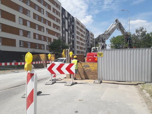 Przebudowa skrzyżowania ulic Pięknej i Nyskiej we Wrocławiu.