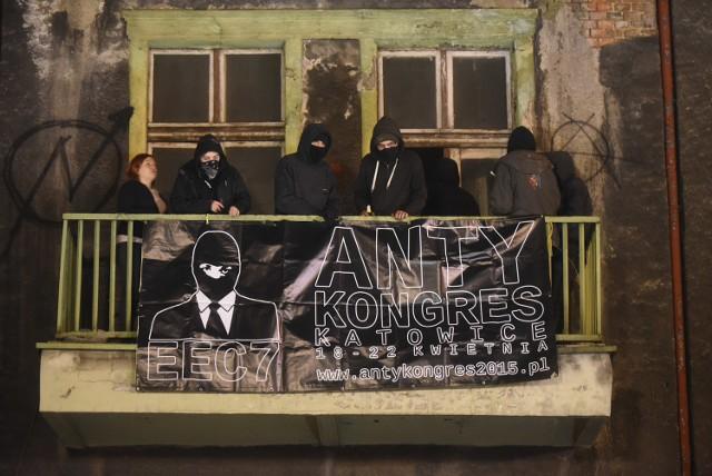 Anarchiści zajęli kamienicę przy ul. Mariackiej. To protest przeciwko EEC Katowice