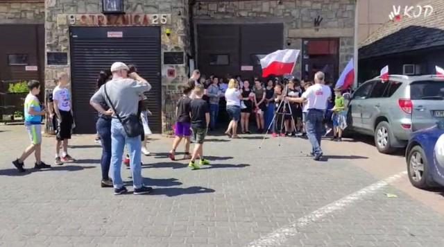 Tour de Konstytucja w Dobczycach.