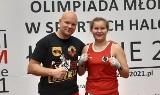 Amelia Kostrzewa z ŁKS Łódź Boks wywalczyła mistrzostwo Polski w boksie olimpijskim. Zdjęcia