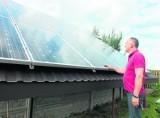 Przemysłowa pywatna elektrownia słoneczna stanie koło Kleszczowa