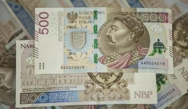 Banknot o największym nominale  w Polsce to obecnie 500 zł