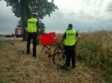 Oborniki: Tragiczny wypadek w Marlewie. Nie żyje rowerzysta potrącony przez busa [ZDJĘCIA]