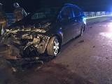 Krasne. Wypadek na wiadukcie. Jedna osoba trafiła do szpitala (zdjęcia)