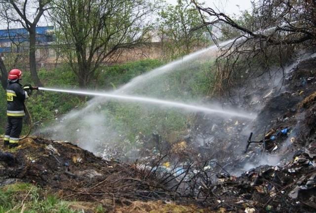 Pożar gasiły dwa zastępy strażaków.
