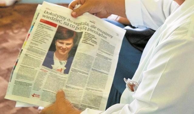 """Urszula Jabłońska, burmistrz Łap wiele razy w wypowiedziach dla """"Kuriera Porannego"""" deklarowała, że gmina dołoży do szpitala. Ale za każdym razem podkreślała, że musi wiedzieć na co pójdą pieniądze."""