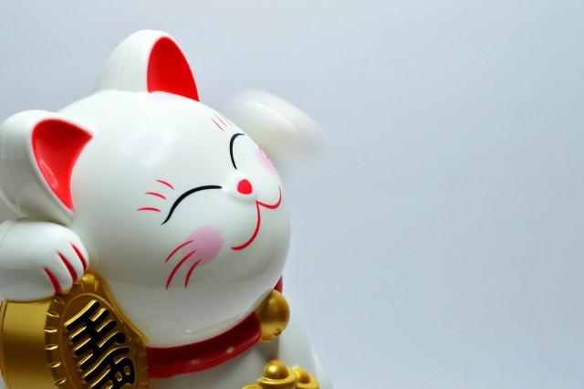 Kotek z uniesioną łapką to chiński symbol szczęścia, który zyskał popularność również i w Polsce.