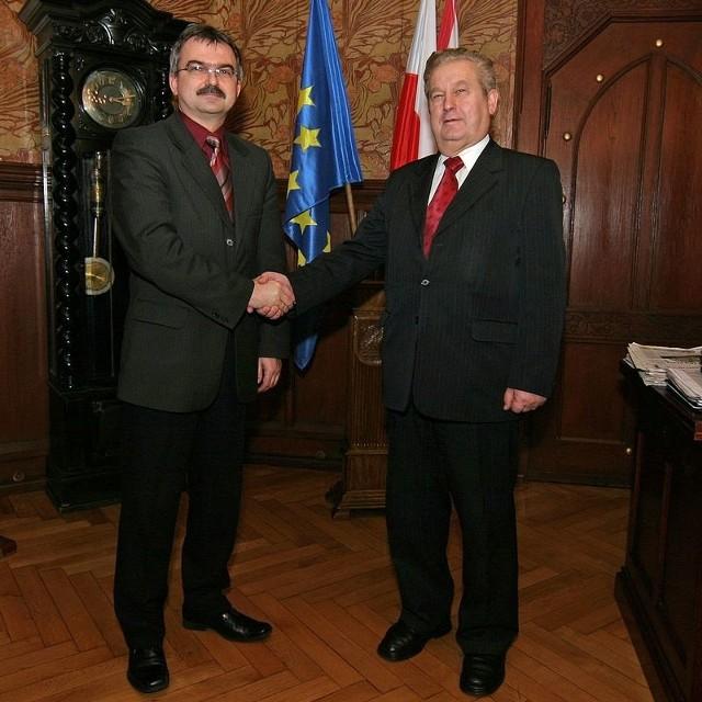 Prof. Roman Drozd oraz dr Antoni Szreder.