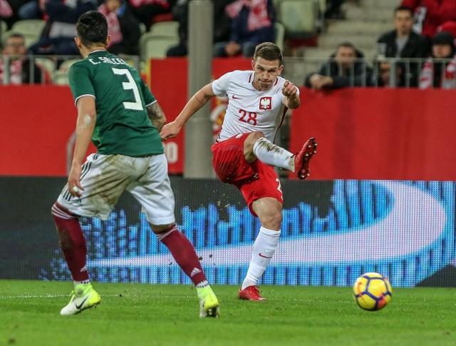 Jakub Świerczok pięknie przywitał się z reprezentacją w meczu Polska - Rosja.