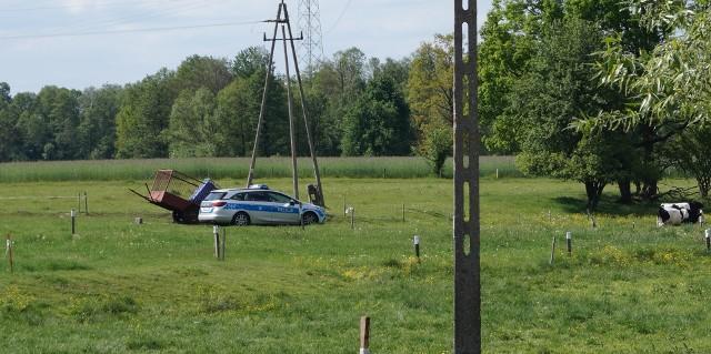 Olszewka. Wypadek na polu. Dziecko zabrane śmigłowcem do szpitala