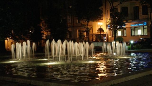 Zielona Góra nocą - Plac Bohaterów