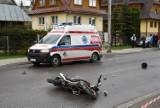 Wypadek w Zakopanem. Motocyklista uderzył w drzewo, zmarł w szpitalu