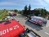 Wypadek dwóch samochodów osobowych w gminie Potworów. Trzy osoby w szpitalu
