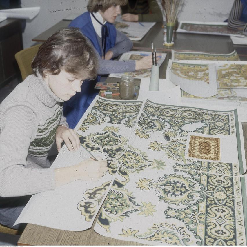 Tak się projektowało dywany w Agnelli. Rok 1979....
