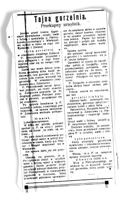 """""""Dziennik Białostocki"""" z 6 sierpnia 1919 roku"""