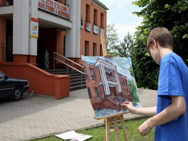 Centrum Kultury i Sztuki w wersji na płótnie...
