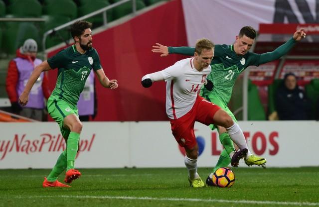 Łukasz Teodorczyk w meczu ze Słowenią we Wrocławiu zdobył bramkę dającą remis.