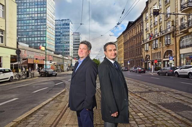 """Maciej Wudarski i Mariusz Wiśniewski, wiceprezydenci Poznania, chcą, by ul. Św. Marcin stała się """"salonem"""""""
