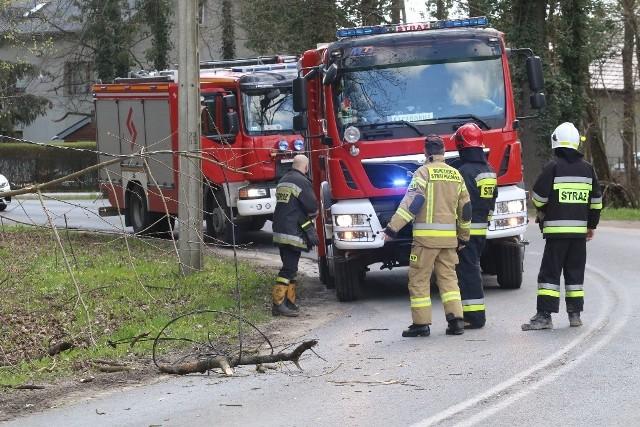 Interweniują strażacy, w miejscu zdarzenia ruch odbywa się wahadłowo.