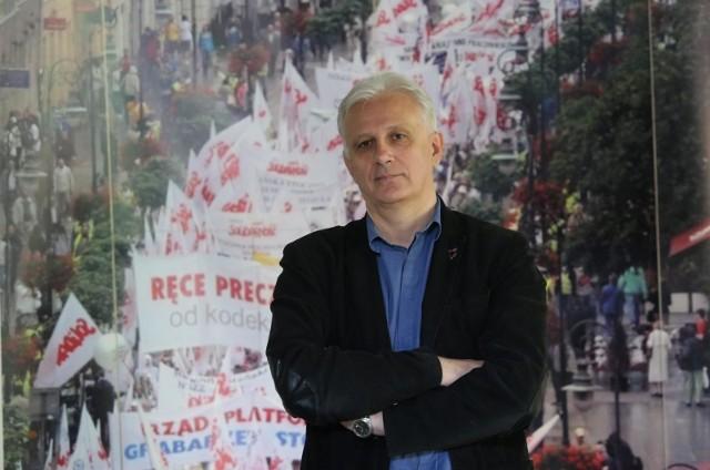Dominik Kolorz, przewodniczący zarządu Śląsko-Dąbrowskiego NSZZ Solidarność