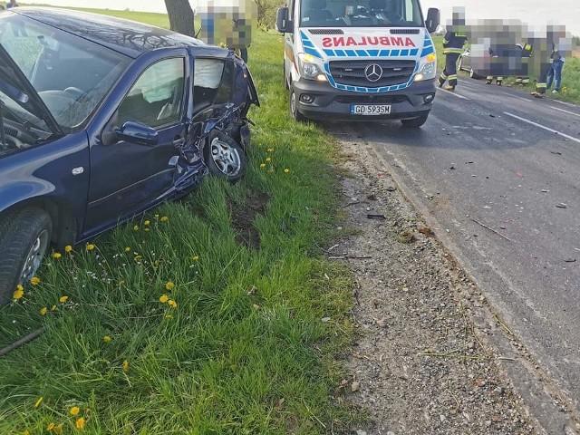 W czwartek 14 maja w Mileszewach zderzyły się dwa samochody osobowe