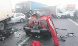 Karambol na A1. 53 poszkodowanych