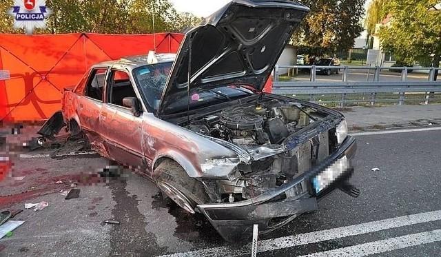 Wypadek w Łukowej