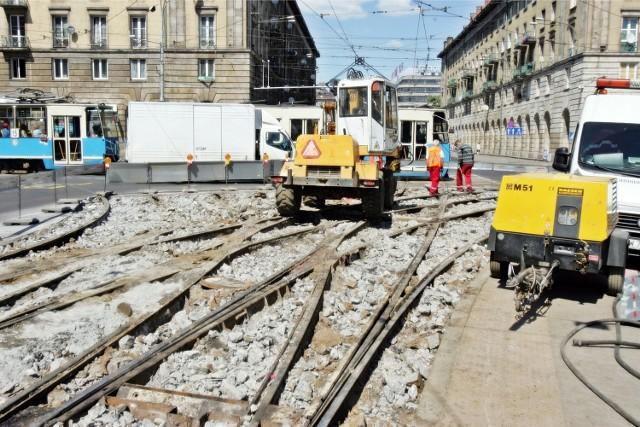Remont torowiska we Wrocławiu. Zdjęcie ilustracyjne