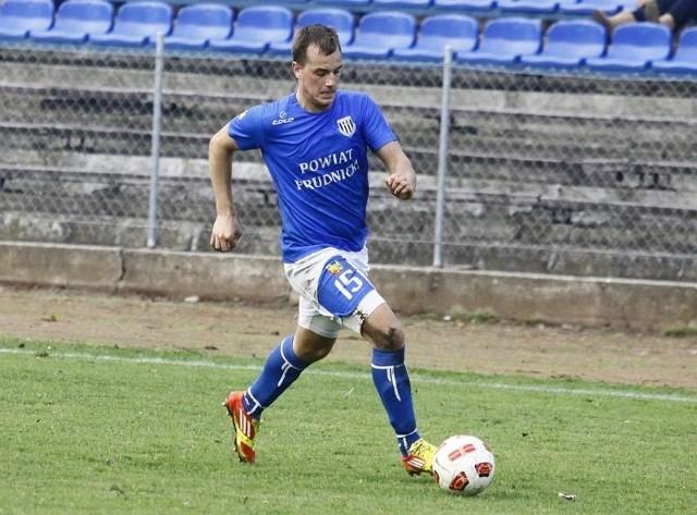 Obrońca Pogoni Dawid Cajzner ma już na koncie pięć bramek.