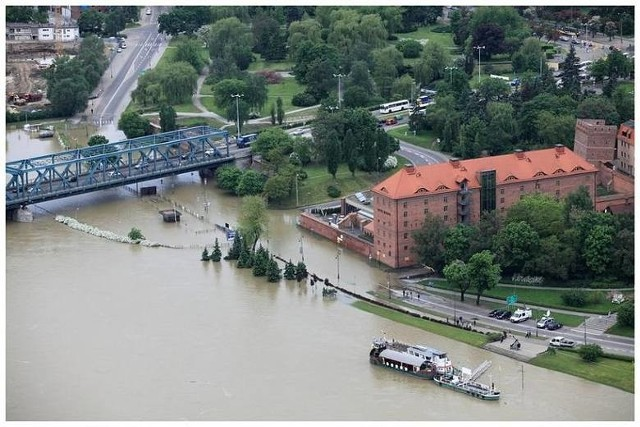 Tak wyglądała powódź w Toruniu w 2010 roku.