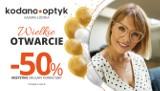 50% rabatu na WSZYSTKIE okulary korekcyjne z okazji otwarcia KODANO Optyk w Łodzi!
