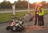 Wypadek motocyklisty w Czechowicach-Dziedzicach. Dlaczego uciekał przed policją? Jest w ciężkim stanie