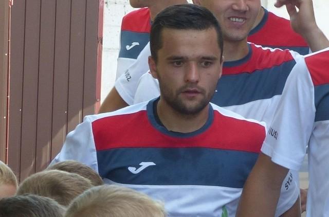 Radosław Szmalec zawodnik Spartakusa Aureus Daleszyce.