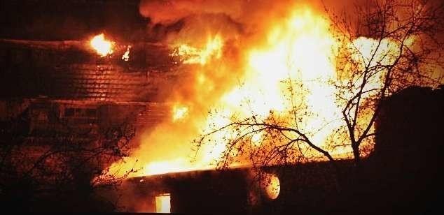 Zdjęcia z miejsca pożaru przysłał na nto24@nto.pl internauta Piotr Mazurczak.