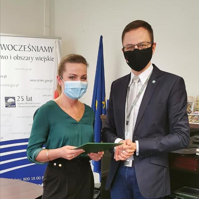 Wojciech Komarzyński z Justyną Mazurkiewicz