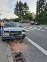 Wypadek przed przejściem dla pieszych w Nowej Słupi. Strażacy w akcji